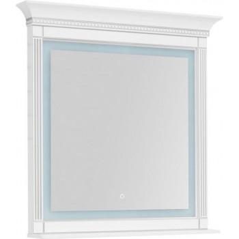Зеркало с подсветкой Aquanet Селена 105 белый/серебро