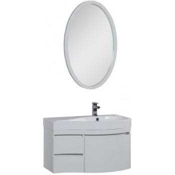 Комплект мебели для ванной Aquanet Сопрано 95 R белый (3 ящика)