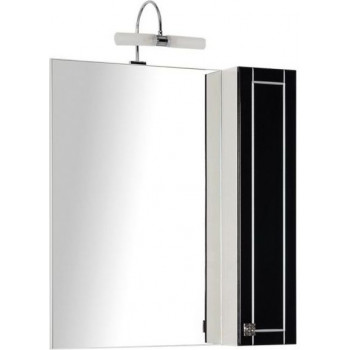 Зеркало-шкаф Aquanet Честер 75 черный/серебро