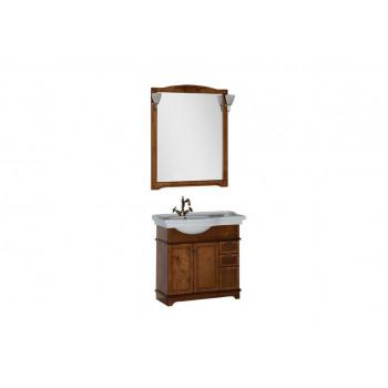 Комплект мебели для ванной Aquanet Луис 90 L темный орех