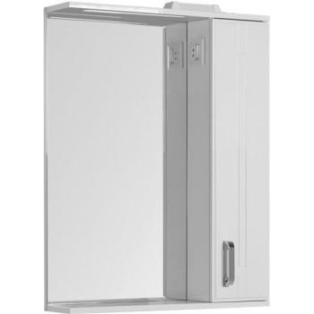 Зеркало-шкаф с подсветкой Aquanet Рондо 70 белый