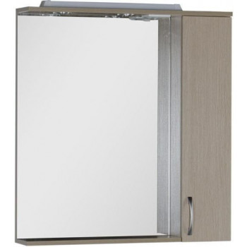 Зеркало-шкаф с подсветкой Aquanet Донна 80 светлый дуб