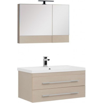 Комплект мебели для ванной Aquanet Нота NEW 90 светлый дуб (камерино)