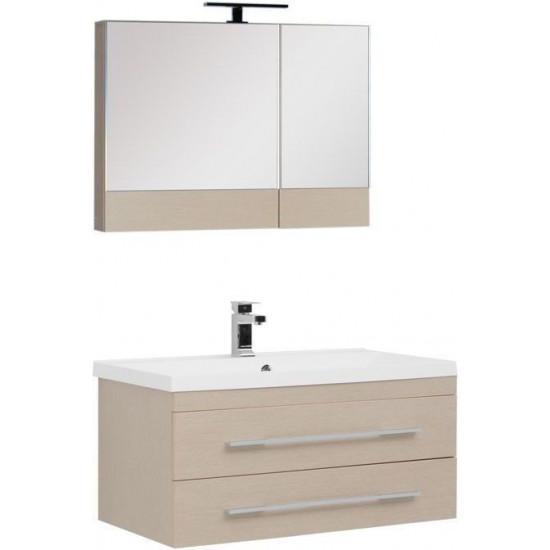 Комплект мебели для ванной Aquanet Нота NEW 90 светлый дуб (камерино) в интернет-магазине ROSESTAR фото