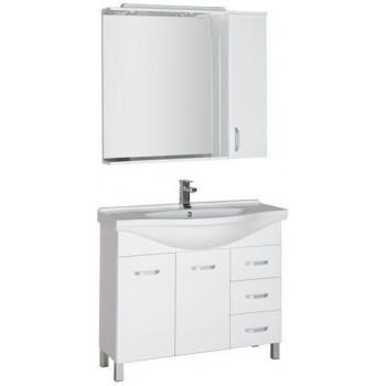 Комплект мебели для ванной Aquanet Глория 100 белый