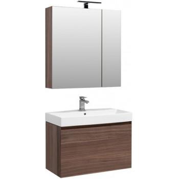Комплект мебели для ванной Aquanet Нью-Йорк 85 орех