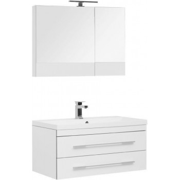 Комплект мебели для ванной Aquanet Верона NEW 90 белый (подвесной 2 ящика)