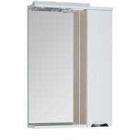 Зеркало-шкаф с подсветкой Aquanet Гретта 60 светлый дуб