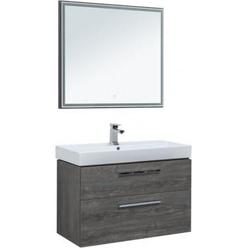Комплект мебели для ванной Aquanet Nova 90 дуб рошелье (2 ящика)
