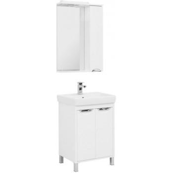 Комплект мебели для ванной Aquanet Гретта 60 New белый (2 дверцы)