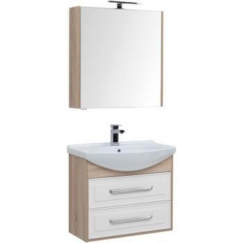 Комплект мебели для ванной Aquanet Остин 75 дуб сонома/белый