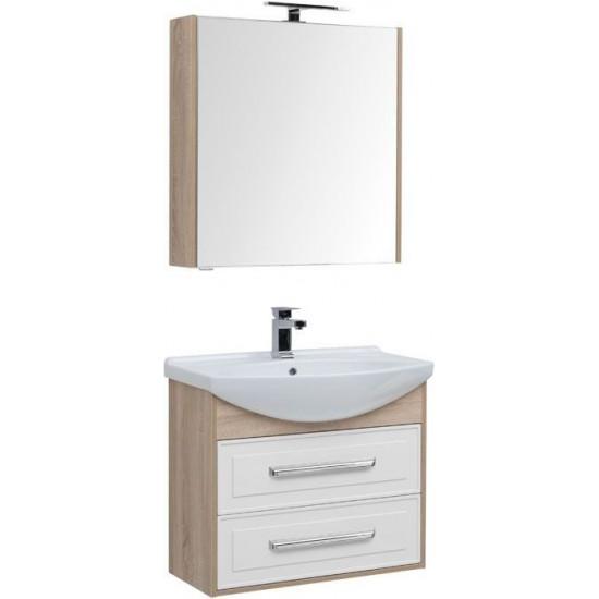Комплект мебели для ванной Aquanet Остин 75 дуб сонома/белый в интернет-магазине ROSESTAR фото