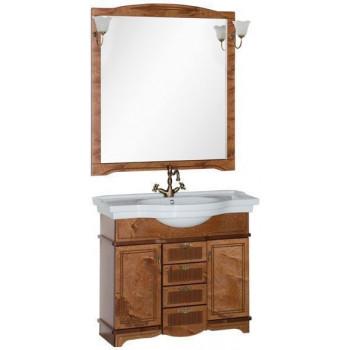 Комплект мебели для ванной Aquanet Луис 100 темный орех