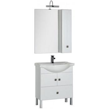 Комплект мебели для ванной Aquanet Стайл 75 белый (2 дверцы 1 ящик)