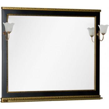 Зеркало Aquanet Валенса 110 черный краколет/золото