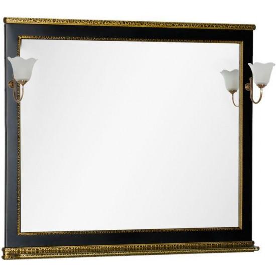 Зеркало Aquanet Валенса 110 черный краколет/золото в интернет-магазине ROSESTAR фото