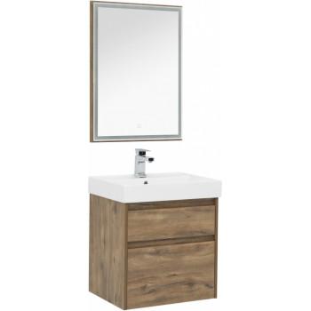 Комплект мебели для ванной Aquanet Nova Lite 60 дуб рустикальный (2 ящика)