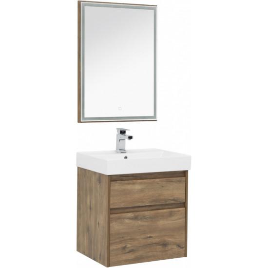 Комплект мебели для ванной Aquanet Nova Lite 60 дуб рустикальный (2 ящика) в интернет-магазине ROSESTAR фото