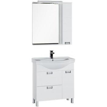 Комплект мебели для ванной Aquanet Сити 80 белый