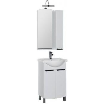 Комплект мебели для ванной Aquanet Асти 55 белый (2 дверцы, зеркало шкаф/полка)