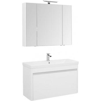 Комплект мебели для ванной Aquanet Вилора 105 белый