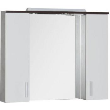 Зеркало-шкаф с подсветкой Aquanet Тиана 90 венге