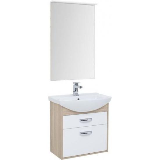 Комплект мебели для ванной Aquanet Грейс 65 дуб сонома/белый (2 ящика) в интернет-магазине ROSESTAR фото