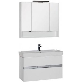 Комплект мебели для ванной Aquanet Виго 100 белый