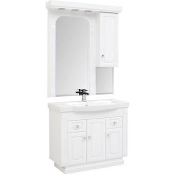 Комплект мебели для ванной Aquanet Фредерика 100 белый