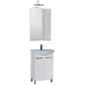 Комплект мебели для ванной Aquanet Парма 65 белый (2 дверцы)
