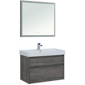 Комплект мебели для ванной Aquanet Nova Lite 90 дуб рошелье (2 ящика)