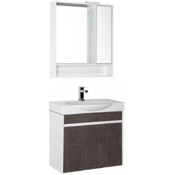 Комплект мебели для ванной Aquanet Коста 76 белый/дуб антик