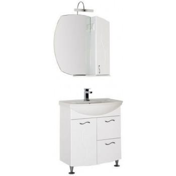 Комплект мебели для ванной Aquanet Моника 75 белый