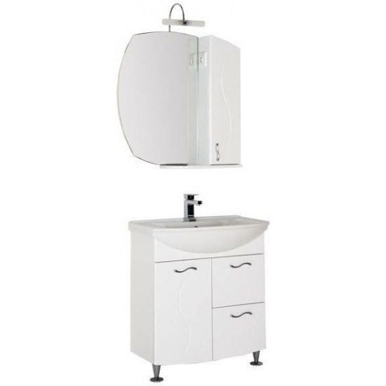 Комплект мебели для ванной Aquanet Моника 75 белый в интернет-магазине ROSESTAR фото