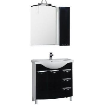 Комплект мебели для ванной Aquanet Асти 85 черный