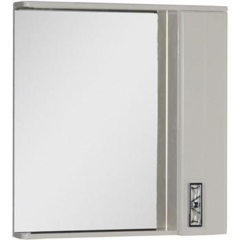 Зеркало-шкаф с подсветкой Aquanet Паллада 80 слоновая кость
