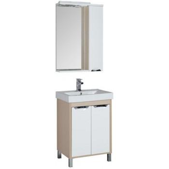 Комплект мебели для ванной Aquanet Гретта 60 светлый дуб (2 дверцы)