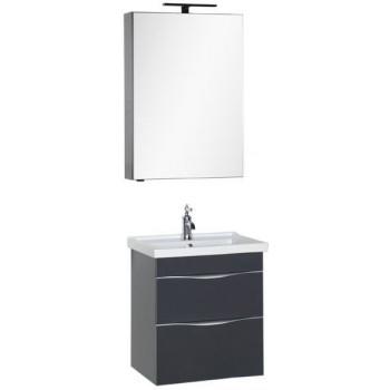 Комплект мебели для ванной Aquanet Эвора 60 серый антрацит
