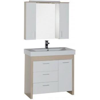 Комплект мебели для ванной Aquanet Тиана 90 светлый дуб