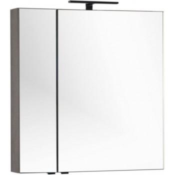 Зеркало-шкаф Aquanet Эвора 80 дуб антик
