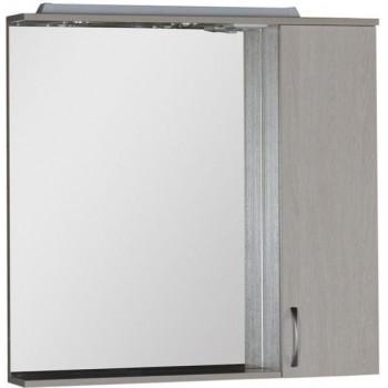 Зеркало-шкаф с подсветкой Aquanet Донна 90 белый дуб
