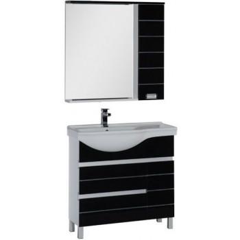 Комплект мебели для ванной Aquanet Доминика 90 L черный