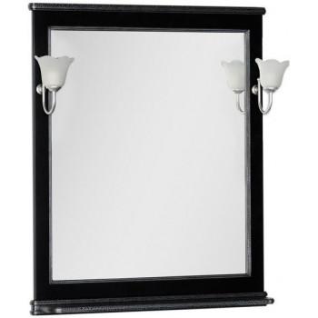 Зеркало Aquanet Валенса 80 черный краколет/серебро