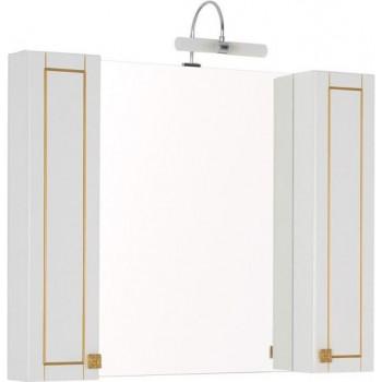 Зеркало-шкаф Aquanet Честер 105 белый/золото