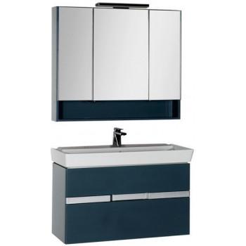 Комплект мебели для ванной Aquanet Виго 100 сине-серый
