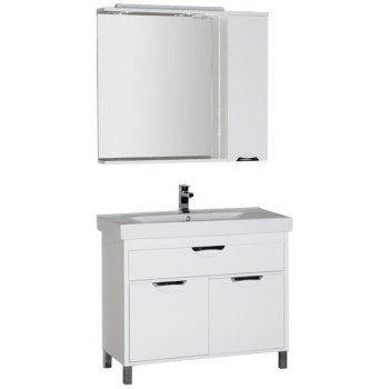 Комплект мебели для ванной Aquanet Гретта 100 белый
