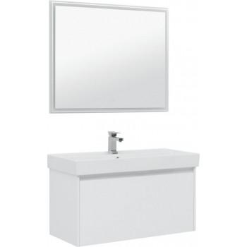 Комплект мебели для ванной Aquanet Nova Lite 100 белый (1 ящик)