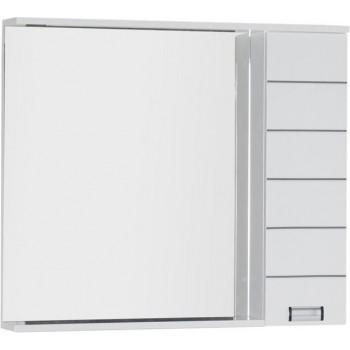 Зеркало-шкаф с подсветкой Aquanet Доминика 100 LED белый