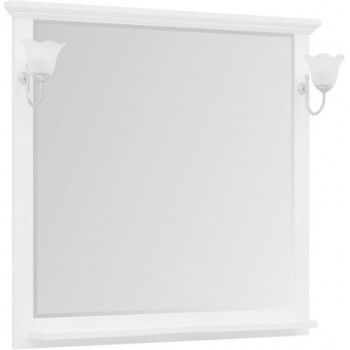 Зеркало Aquanet Лагуна 105 белый