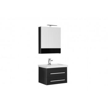 Комплект мебели для ванной Aquanet Сиена 60 черный (подвесной 2 ящика)